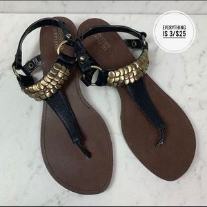 Mossimo Supply Co. Black Small Wedge Sandals 9